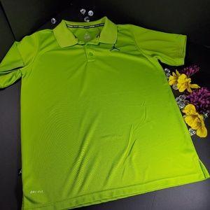 Jordan Dri Fit Green Short Sleeved Polo Shirt